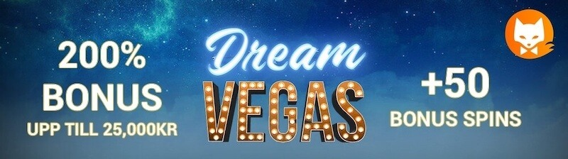 Dream Vegas casinobanner casinofox