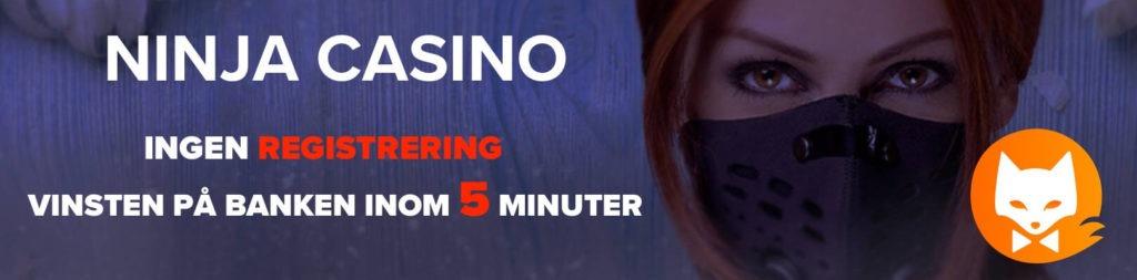 Ninja Casino regga på 5 minuter
