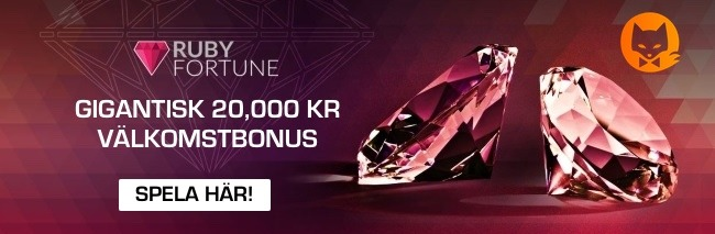 Ruby Casino välkomstbonus Sverige