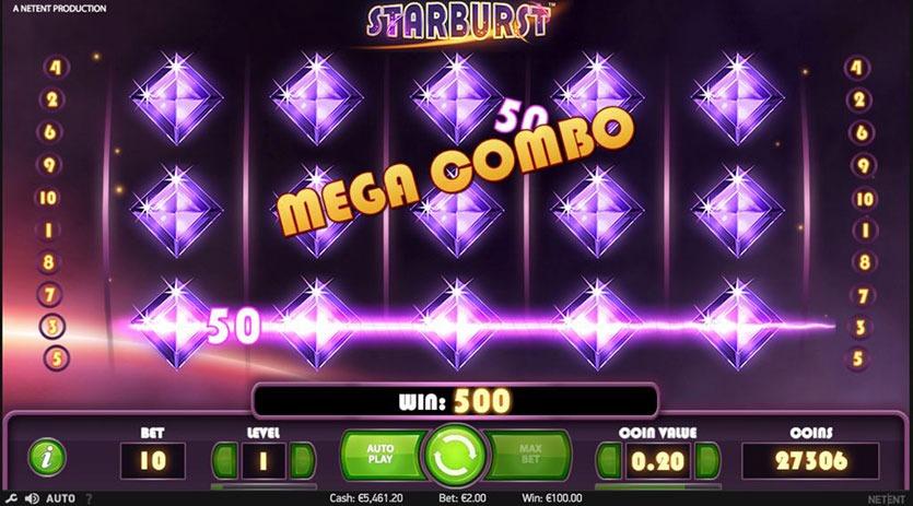 Starburst maximum profit and volatility