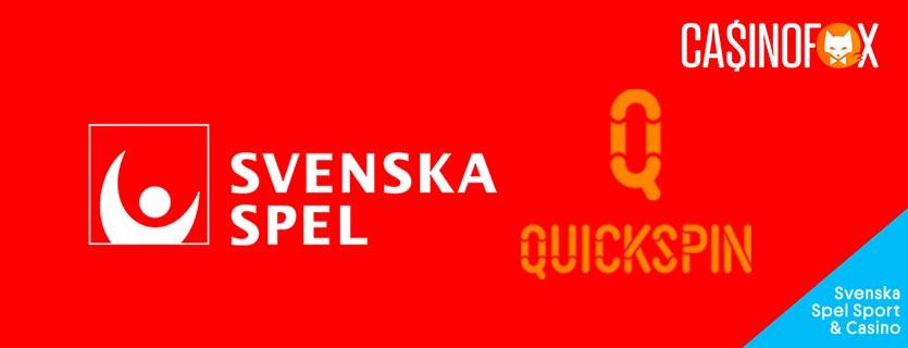 Svenskaspel samarbetar med Quickspin banner