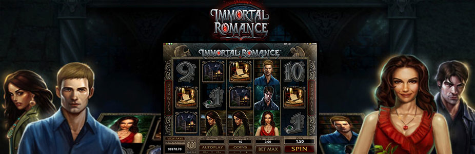 Immortal Romance slot review banner