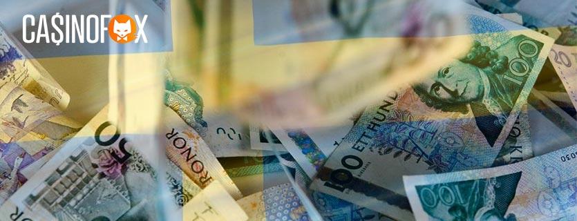 Svenska flaggan och svenska sedlar
