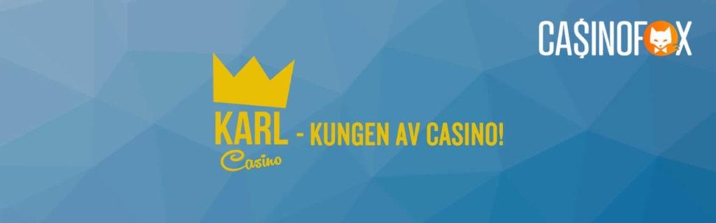 Karl Casino banner för Sverige