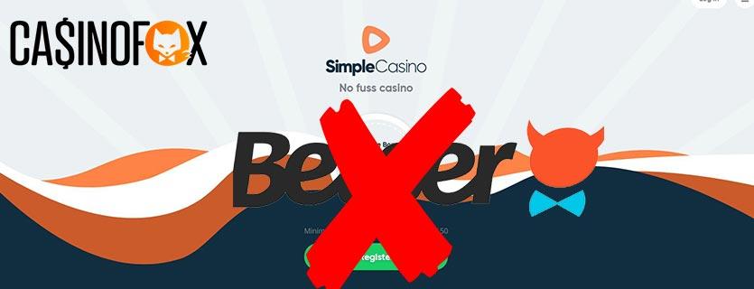 Betser byter till Simple Casino