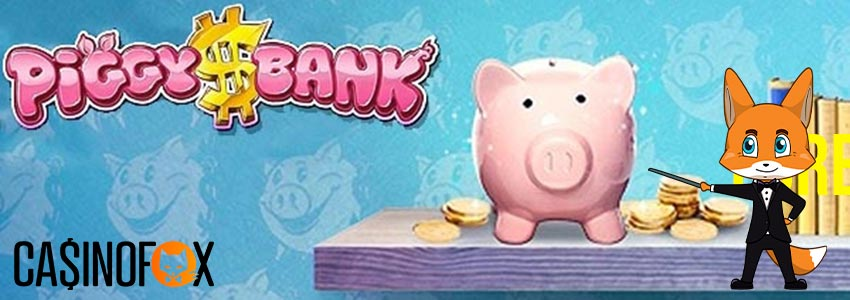 Piggy Bank slot med Casinofox logga