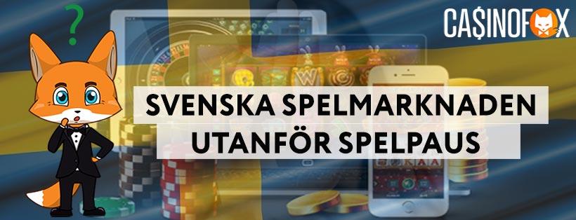 Den svenska casinomarknaden utanför Spelpausen 2020