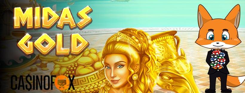 Midas Gold slot med casinofox logga