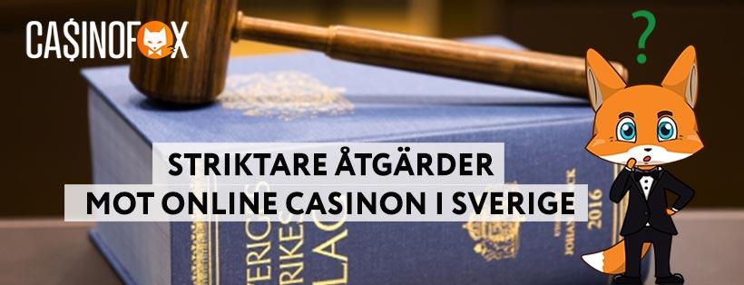 Svenska staten inför nya strikta regler för online casinon