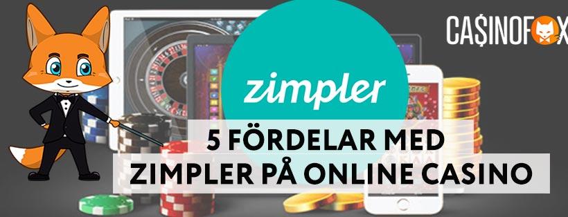Fördelar med Zimpler på online casino