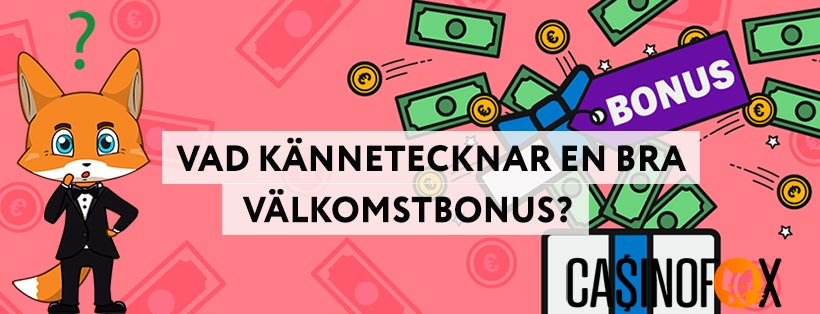 Casino välkomstbonus med Mr Fox