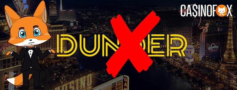 Dunder casino läggs ned i Sverige