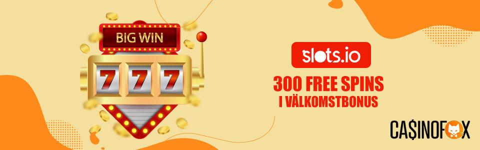 Slots.io casino bonus banner