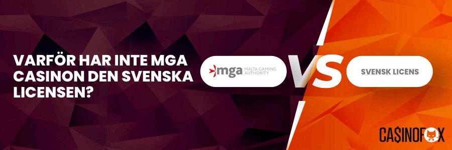 MGA licens vs Svensk licens