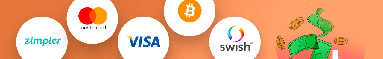 Betalmetoder på nya online casino banner