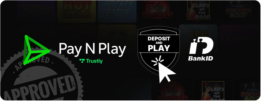Pay N Play casino utan svensk licens logga