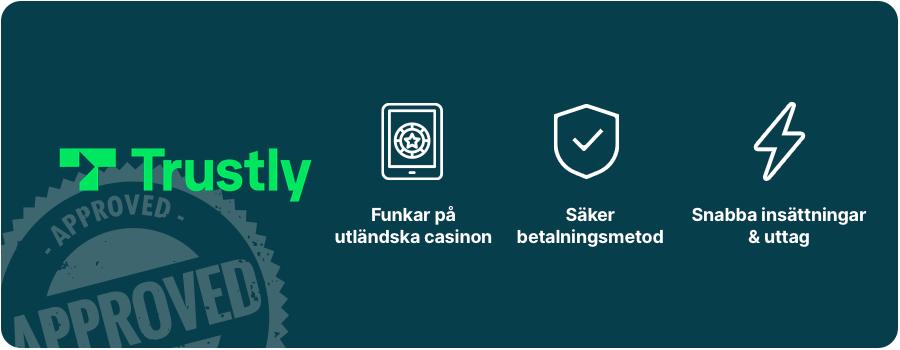 casino utan svensk licens Trustly logga